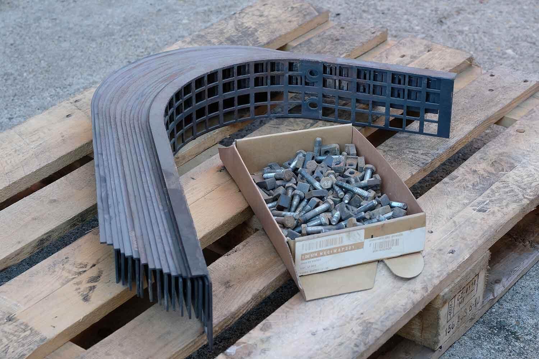 "Dappen Werkzeug- und Maschinenbau | Products | Replaceable screen ""Dappen for B24 – size 50 mesh"""