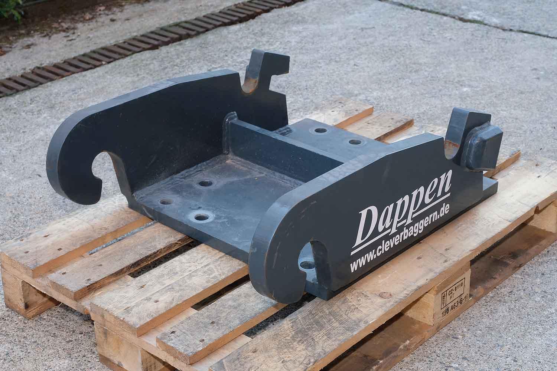 Dappen Werkzeug- und Maschinenbau | Products Dappen adapter plate Verachtert CW40 | dark grey adapter plate