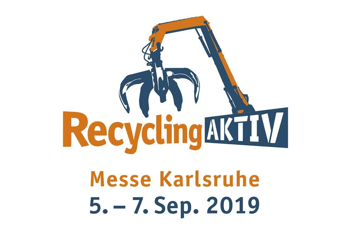 Dappen   RecyclingAKTIV - Logo Messe Karlsruhe   Logo orange und blau